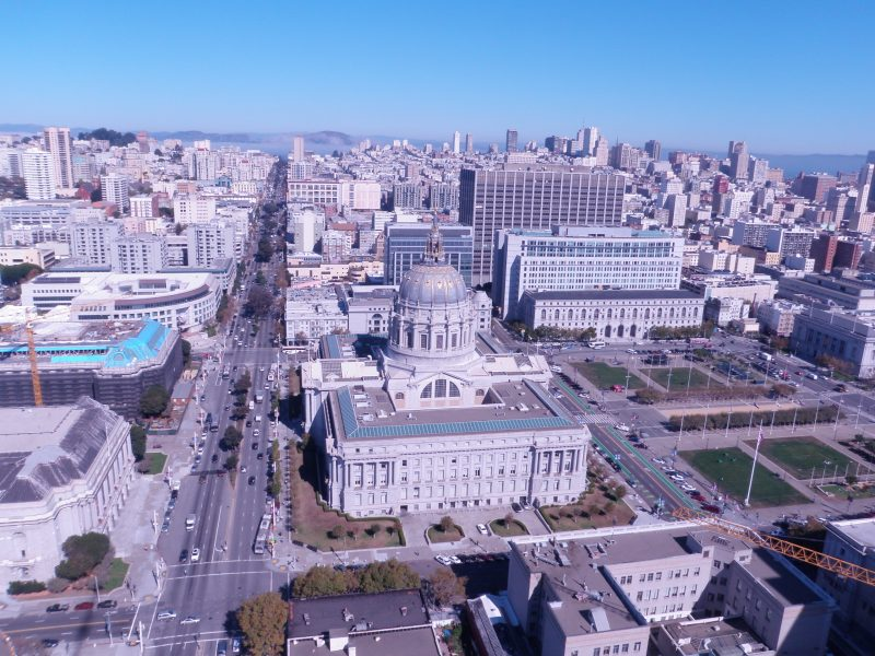 A view of San Francisco City Hall